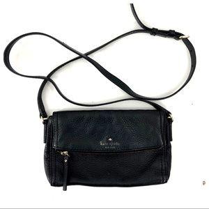 Kate Spade Black Pebbled Leather Small Crossbody